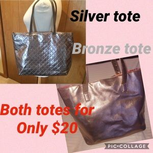 $20 for 2 Great Totes!  One silver and one bronze